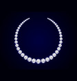diamond necklace on dark background realistic vector image