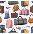 Different bags set pattern vector image vector image