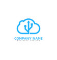 digital cloud logo icon design vector image