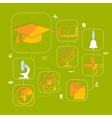 education flat infographic vector image