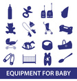 equipment for baby icon set eps10 vector image
