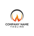 fire circle logo template vector image vector image