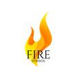 fire logo icon conceptual flame symbol vector image vector image