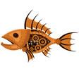 fish steampunk robot unusual animal pattern vector image vector image