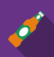 Flat design beer icon with long shadowFlat design
