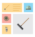 flat icon garden set of tool pump hosepipe and vector image vector image