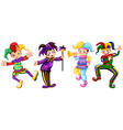 Four characters of jesters vector image vector image