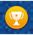 gamification badge with white cup