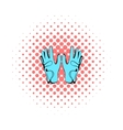 Golf glove icon comics style vector image vector image