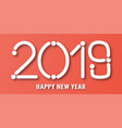 happy new year 2019 with on red background with vector image