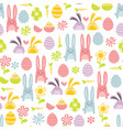 happy sweet easter seamless pattern background vector image vector image