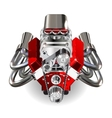Hot Rod Engine vector image vector image
