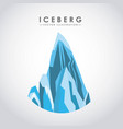 iceberg glacier desig vector image vector image