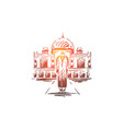 india country travel religion building vector image vector image