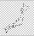 japan map in line style on isolated background vector image