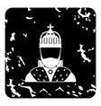 King icon grunge style vector image