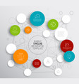 light abstract circles infographic template vector image vector image