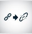 link broken icon trendy simple symbol concept vector image vector image