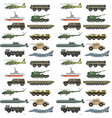 military transport vehicle technic army war vector image vector image