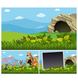 nature scenes with wild animals by the cave vector image vector image
