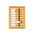 old wooden abacus isolated on a white backgroun vector image vector image