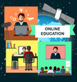 online education concept with internet conference vector image vector image