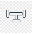 pipe concept linear icon isolated on transparent vector image