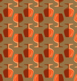 pop art cognac glass seamless pattern vector image