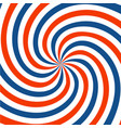 red blue and white spiral background twirl vector image vector image