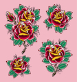 rose tattoo vector image vector image