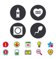 safe sex love icons condom in package symbols vector image vector image