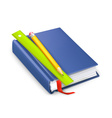 Schoolbook icon vector image