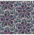 Seamless ornate floral pattern vector image
