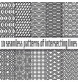 seamless pattern black lines on white backgrounds vector image