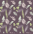 seamless pattern with plants and leaves vector image