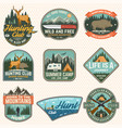 set hunting club and hiking club badge vector image vector image
