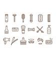 set of barber shop elements electric