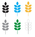 set wheat icon on white background flat style vector image
