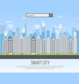 smart city urban landscape vector image vector image