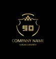 so letter initial with royal luxury logo template vector image vector image