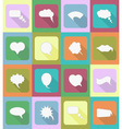 speech bubbles flat icons 20 vector image vector image
