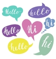 Speech bubbles with Hello word Hand drawn vector image vector image