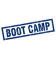 square grunge blue boot camp stamp vector image vector image