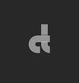 Symbol mockup letters CT logo monogram C vector image vector image