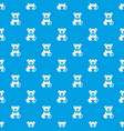 teddy bear holding a heart pattern seamless blue vector image vector image