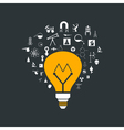 Yellow bulb vector image vector image