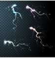 Thunderstorm Realistic Elements vector image