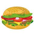 hamburger in cartoon style vector image