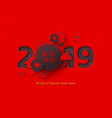2019 chinese new year holiday design vector image vector image