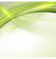 Abstract green waving background vector image